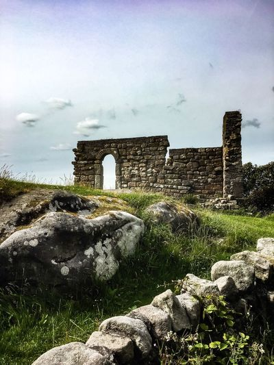 St Patrick's Chapel, Heysham, Morecambe Bay. Architecture History Old Ruin The Past Ancient Building Exterior Arch Day Ancient Civilization Stone Material Sky Travel Destinations No People Outdoors Nature Tree Lancashire UK