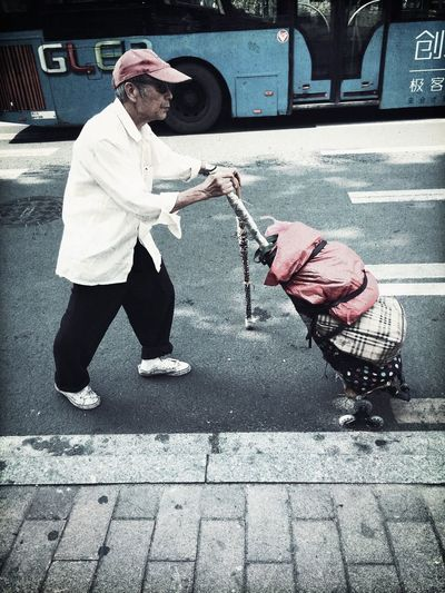 On The Road Time City Life Oldman