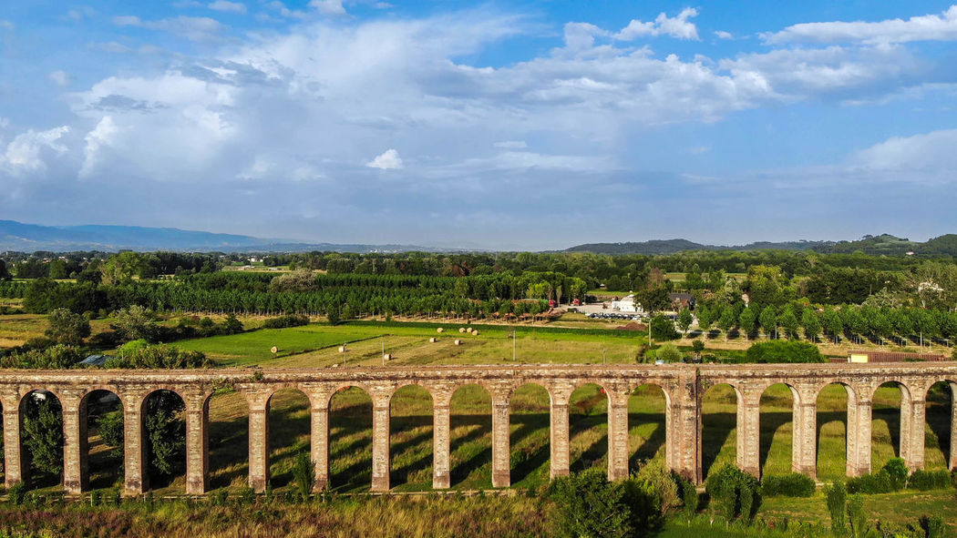 Aqueduct in Tuscany, Italy Droneshot Drone View Drone  Dronephotography Aqueduct Ancient Civilization Architecture Beauty In Nature Building Exterior Built Structure Cloud - Sky Day Environment Field Grass History Land Landscape Nature No People Outdoors Plant Scenics - Nature Sky Tranquil Scene Tree