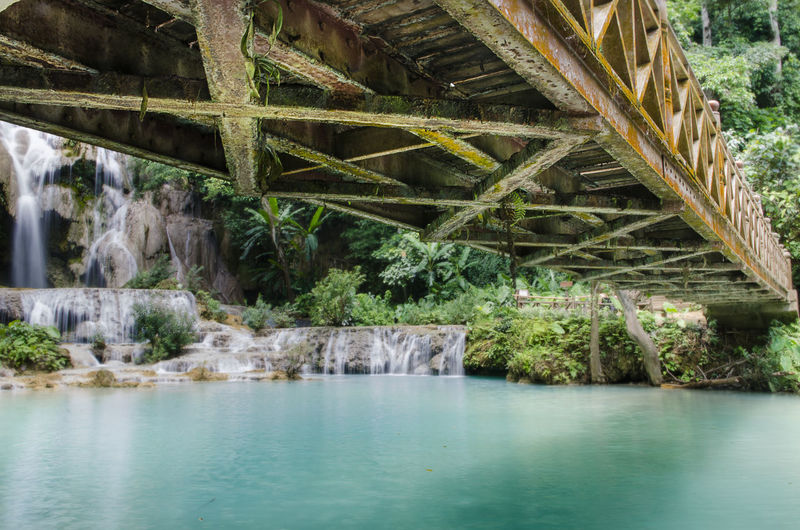 Discover Your City Luang Prabang, Laos National Park Old Bridge Architecture Built Structure Forest Trail Nature No People Outdoors River Underneath Water Weterfall EyeEmNewHere Second Acts