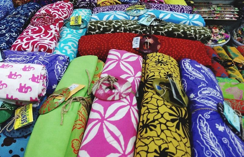 Full frame shot of colorful fabric