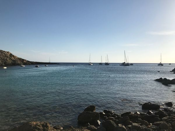 summerday Ibiza Sunset_collection Bay Beach Beauty In Nature Day Horizon Over Water Moored Nature Nautical Vessel No People Outdoors Sailboat Sailing Ship Scenics Sea Ship Sky Sunpath Tranquility Transportation Water Yacht
