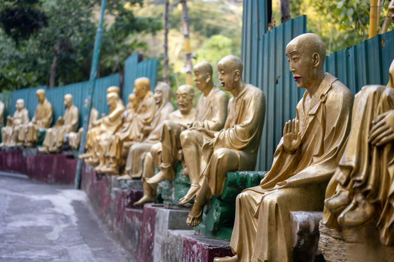 Statues at temple