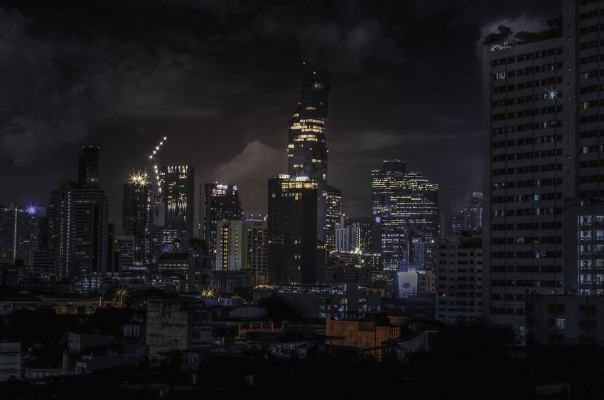Night over Bangkok ASIA Bangkok Cityscape Thailnd Architecture Building Exterior Built Structure City Cityscape Illuminated Landscape Modern Night No People Outdoors Sky Skyscraper Tall Tall - High Tower Travel Destinations Urban Skyline