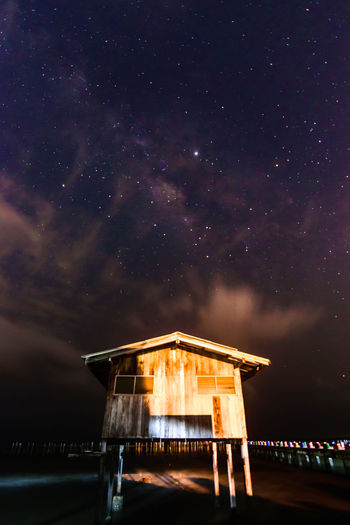 wooden house in the galaxy Astronomy Galaxy Space Milky Way Star - Space Constellation Star Field Long Exposure Wood - Material Space And Astronomy Hut