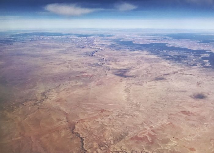 River drainage in the desert. Canal Drainage Channel River System Desert Colors Desert Horizontal Rugged Landscape Arid Landscape Western USA Landscape Scenics Nature Beauty In Nature Tranquil Scene Tranquility Aerial View Physical Geography Sky Arid Climate View Into Land Water Geology Outdoors