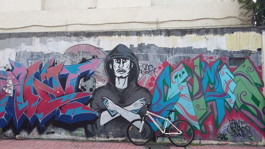 Cycling Unites Mural Art Street Art Streetphotography Building Exterior City Corner Denpasar City Bali INDONESIA