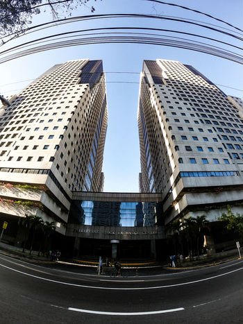 The Philippine Stock Exchange EyeEm EyeEm Best Shots Ph Philippines Gopro GoProhero6 Building Twinbuildings Morning Earlybird City Street Office Building Tower Building Story City Location Wide Shot Tall High Rise Building Feature