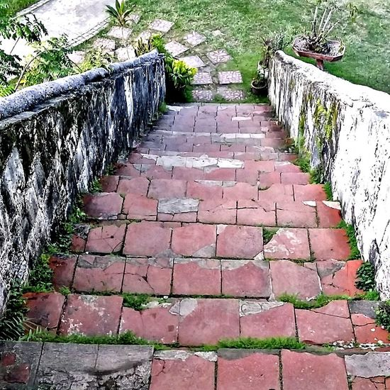 Stairs Bricks And Stones Historical Building History Hispanic Spanish Arquitecture Spaniards Bohol Philippines