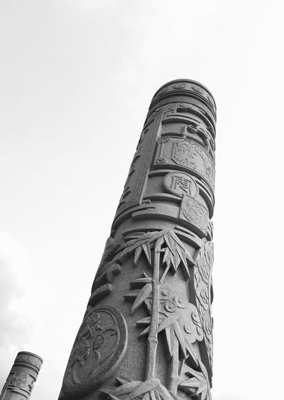 Carved Pillars at Yangtia Mountain in Shenzhen, China Yangtai Mountain Shenzhen China Stone Pillar Carved Black And White Photography Stone Pillars Carved Pillars Sculpture Black And White Traditional Traditional Chinese Chinese