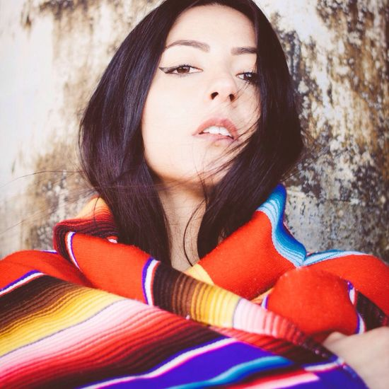 The Portraitist - 2016 EyeEm Awards Taking Photos Italiangirl Losangeles Hello World Santa Monica Day Cold Color Portrait Colorful Mexicanblanket Mexican Rustic