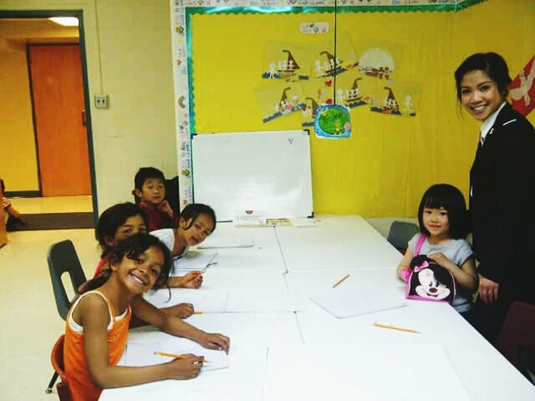My very first art class :) Artclass Cutekids Lovinglife♥