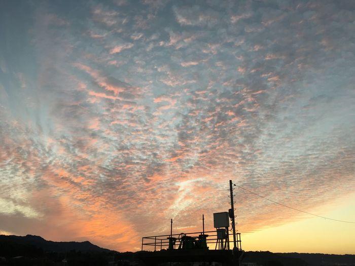 夕焼け Sunset Sky Orange Color Cloud