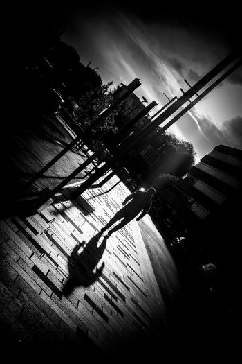 City End Of The Day Leading Lines On My Way Home Path People Watching Shadow Shadow And Light Shadows Shadows & Lights Shadows And Backlighting Sidewalk Silhouette Silhouettes Silhoutte Photography Sky Street Street Photography Streetphotography Sunset Sunset Silhouettes The Street Photographer - 2017 EyeEm Awards Walking Around Walking Around The City  Black And White Friday