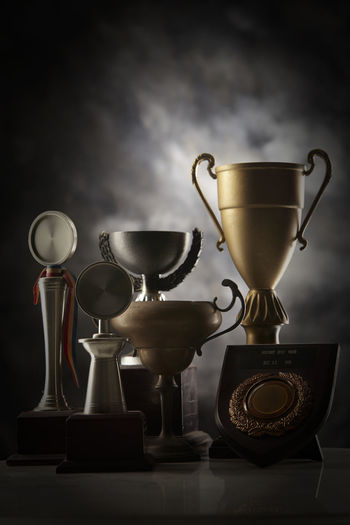 group of trophy AWARD Achievement Antique Celebration Champion First The Still Life Photographer - 2018 EyeEm Awards Trophy Winter Best  Close-up Competition First Eyeem Photo Group Indoors  Leadership Memory No People Pride Silver  Still Life Success Victory Winner