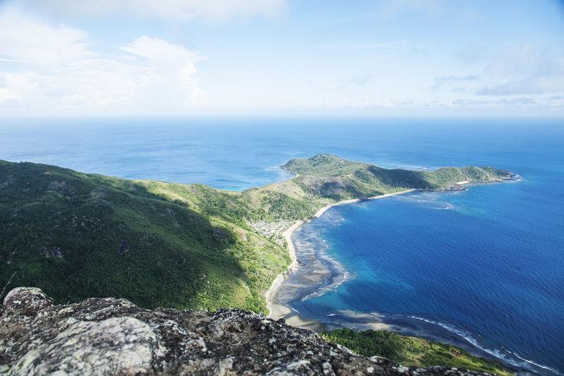 The top of Octopus Island Fiji Fiji Islands Fiji ❤🌴 Hikingadventures Mountain Ocean Travel Destinations Travel Photography
