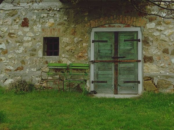 Architecture Built Structure Building Exterior House Grass Day No People Green Color Tree Outdoors Growth Nature Chair Door Window EyeEmNewHere The Secret Spaces Art Is Everywhere Break The Mold The Great Outdoors - 2017 EyeEm Awards BYOPaper!
