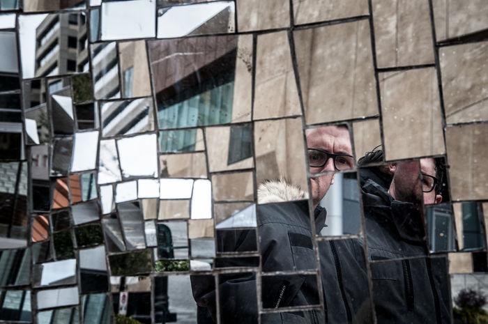 Charlotte Cityscapes Downtown Mirror North Carolina Public Art Reflections Shards