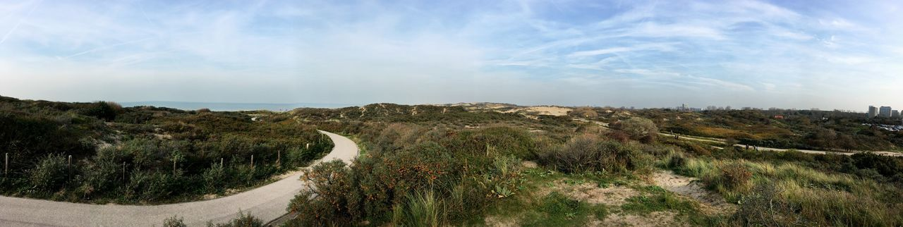 📷 Panorama Dunes Scheveningen  Plant Sky Cloud - Sky Tree Beauty In Nature Scenics - Nature Tranquility Tranquil Scene Landscape Growth Nature Environment No People Day Land Field Non-urban Scene Panoramic Outdoors Idyllic 17.62° My Best Photo