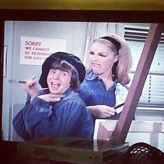 I paused TheMonkees for a second then laughed when I looked up. Davyjones