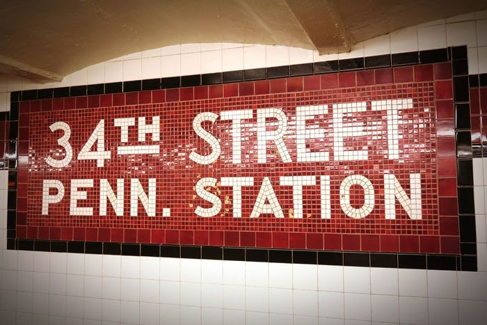 34th Street Penn Station White Letters Red Color New York City Subway New York ❤ New York Subway Subway Station Metro Station USA EyeEmNewHere EyeEm Best Shots Wall Art New York New York City Penn Station  34th Street  Mosaic Wall Mosaic Text Communication Western Script Indoors  No People Tile Illuminated Close-up Day