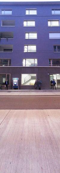 Altersheim & Bushaltestelle - old peoples end station & Bus Stop, feldstrasse aussersihl Zureich und zudoof