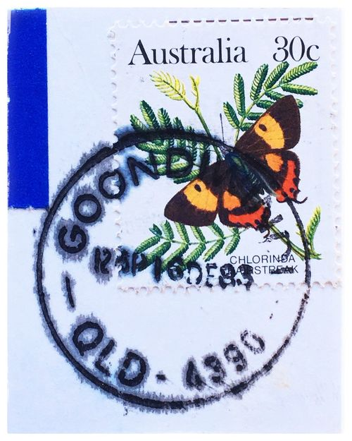 Silky Hairstreak. BYOPaper! Stamps Rephotography Butterfly Analogrevolution Shoeboxtreasures