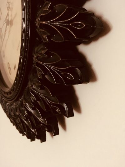 Clock vintage on a wall Wood Watch Clock Indoors  No People Directly Above Close-up Day