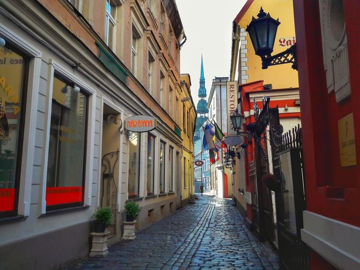 Architecture Built Structure Building Exterior The Way Forward City Outdoors No People Day Sky Riga Riga Latvia Riga Old Town Old Town Latvia Latvija