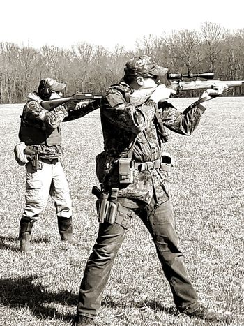 Friends Men Ohio Ohio, USA Blackandwhite Black And White Rifle Shotgun Guns