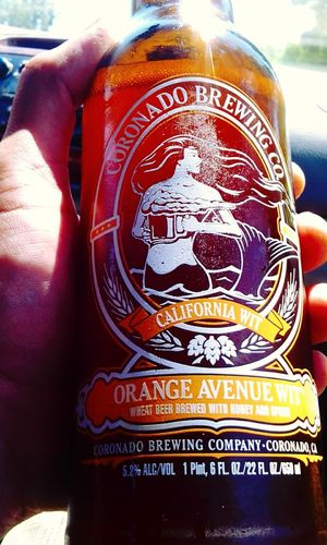 Todays beer for lunch goes to coronado brewing co's orange avenue wit Coronado Brewing Co. San Diego Craft Beer Craft Beer I ❤ Beer