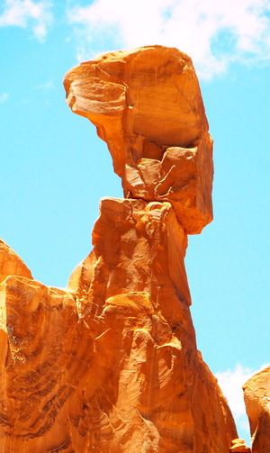 Arches National Park, Utah Balancing Act Danger Geology Looking Up Ready To Fall Rock Formation Showcase: December Sky Vacation Vacation2015
