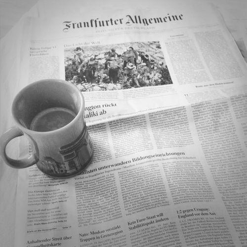 Coffee and newspaper at 7pm. Start your day right! Welcome to the studentlife Fuckyoufinals Coffeemybestfriend Faz
