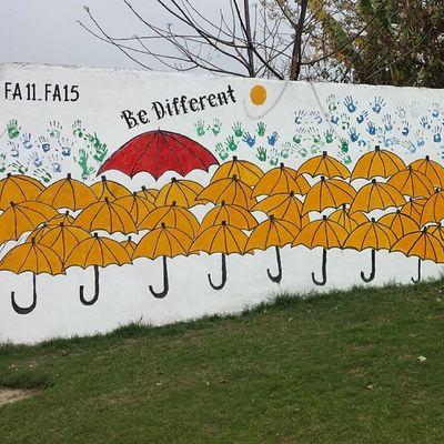 Students wall painting at COMSATS Uni Attock Campus. Comsats Comsatsatk Attock University institute pakistan education