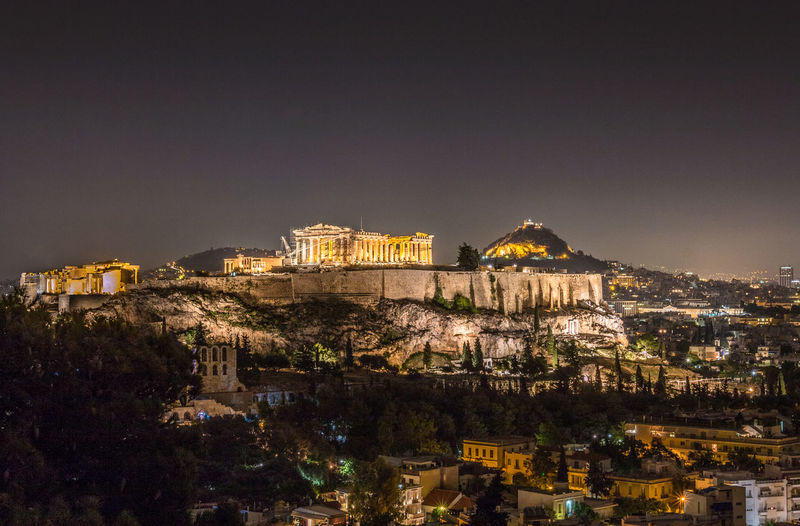 Athens at night in Greece Acropolis, Athens Athens, Greece GREECE ♥♥ Greek Islands Parthenon Parthenon Acropolis Greece Acropolis Architecture Athens Building Building Exterior Built Structure City Cityscape Dusk History Illuminated Nature Night No People Outdoors Residential District Sky The Past Town Travel Travel Destinations