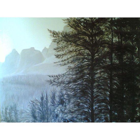 My work oil color on canvas Molome Art ArtWork Artist Artistic Landscape Öl Blackandwhite