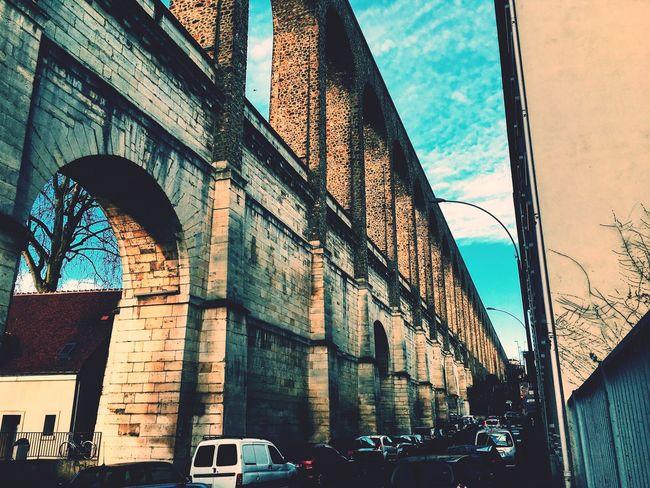 Aqueduct Architecture IleDeFrance Architecturephotography Cachan, France Monuments Historical Building Historical Monuments IPhoneography Iphoneonly IPhone