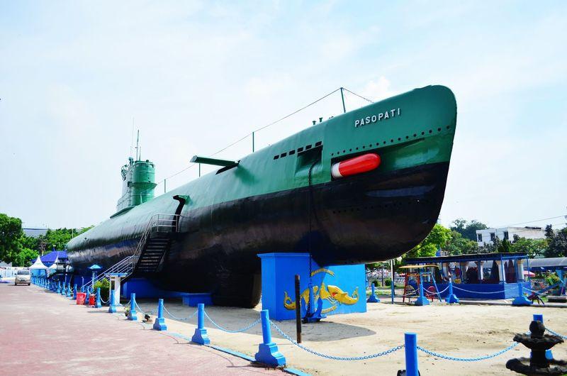 The submarine Pasopati on display in Surabaya Surabaya Submarine Navy INDONESIA Pasopati