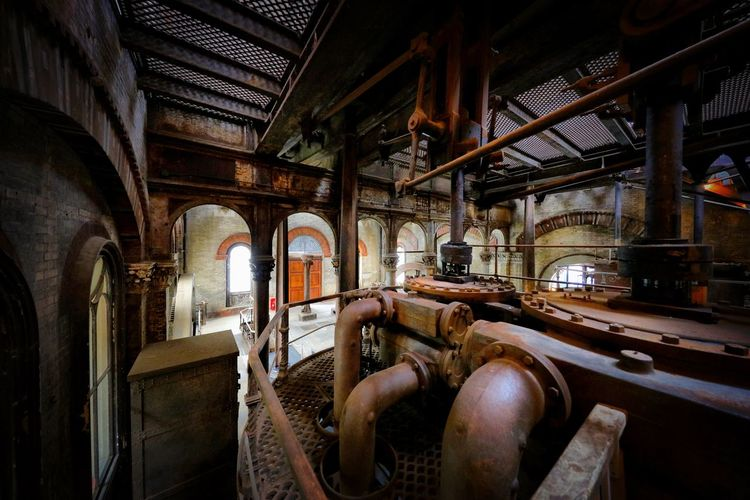 Crossness Pumping Station Indoors  Abandoned Architecture Built Structure No People Old History