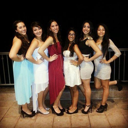 My girls! :D Winterformal Homies Missingsome Funnight dresses heels