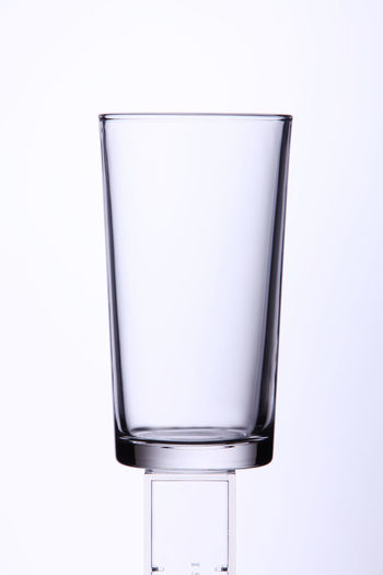 drinking glass on the white background Isolated Clean Clear Cut Out Cut Out On White Drinking Glass Galss No People Object Single Object Studio Shot Translucent Transparent White Background