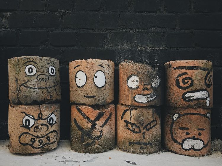 Briquettes Side By Side No People Still Life Arrangement Close-up Wall - Building Feature Group Of Objects