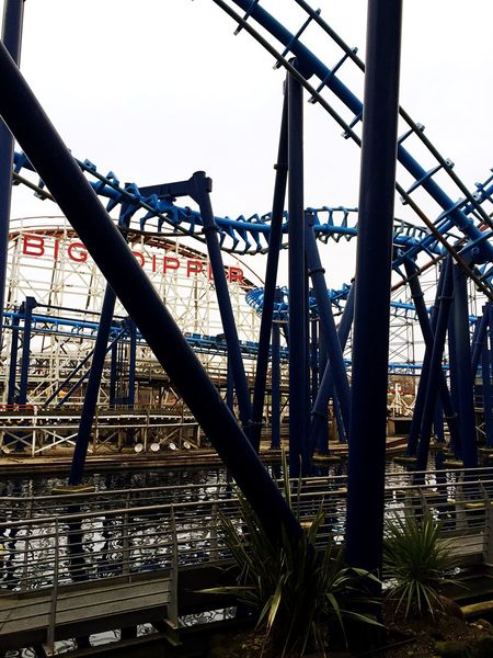 Big Dipper InFusion Blackpool Roller Coaster Lancashire England🇬🇧 Tracks