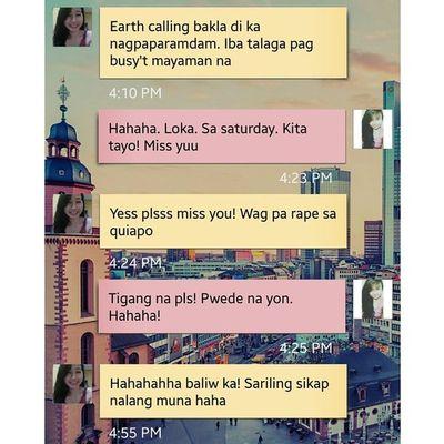 R18 conversation with this crazy girl kanina! HAHAHA. Joke lamang po yan. Hehehe. ✌?? @reneeandreag aymishuuu ?