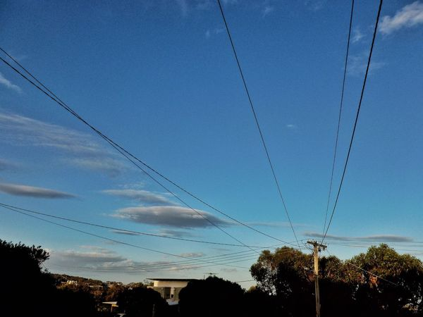Street Photography Street Scene Telegraph Pole Wires Sky Clouds Eye4photography  Residential  EyeEm Best Shots Blue Skies Explore Beautiful Neighbourhood Jan Juc Australia Serene Outdoors Scenic