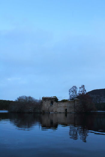Castles Loch An Eilein Shades Of Winter Bare Tree Beauty In Nature Blue Castle Ruin Cloud - Sky Day Lake Landscape Nature No People Outdoors Reflection Reflections In The Water Scenics Sky Tranquil Scene Tranquility Tree Water Waterfront