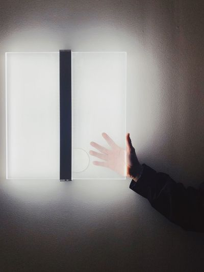 Human Hand Human Body Part Hand One Person Indoors  Wall - Building Feature Body Part Close-up Real People Finger Human Finger Touching Unrecognizable Person Human Limb Window Personal Perspective