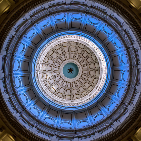 Texas Capital Dome 2 Architectural Feature Architecture Austin Texas Building Exterior Built Structure Ceiling Circle Design Directly Below Dome History Indoors  No People Ornate Pattern Spiral Texas Texas Capitol
