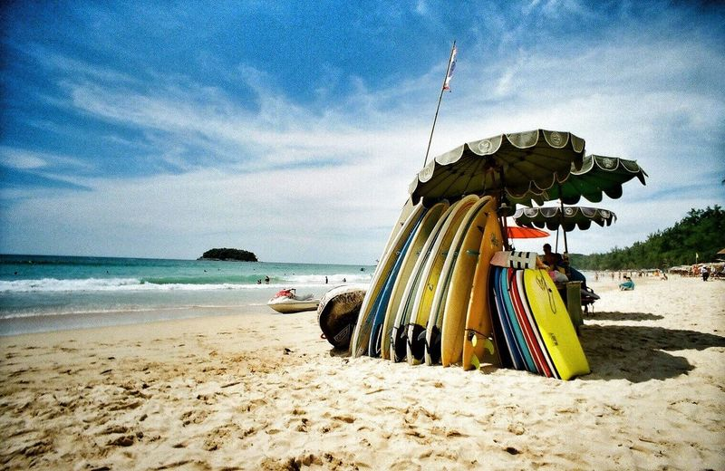 Film Photography - Karon beach surfing, Phuket EyeEm Best Shots Pantone Colors By GIZMON Clouds And Sky Streamzoofamily Color_boom Holiday POV People Of The Oceans Investing In Quality Of Life The Traveler - 2018 EyeEm Awards