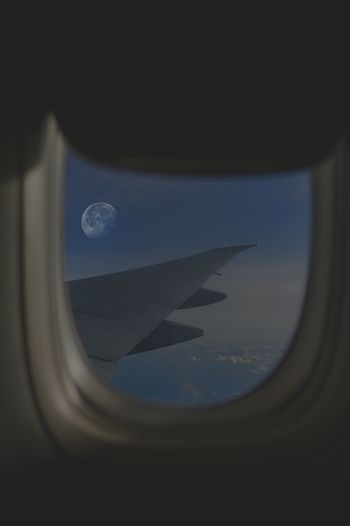 Dreamer Journey Dreaming Beautiful Beautiful Day Nice Day Nice View See What I See Somewhere I Remember Somewhere Home Moonlight Water Commercial Airplane Astronomy Aerospace Industry Airplane Wing Mid-air Aircraft Wing Aircraft Half Moon Sky Only Aerial View Moon Surface